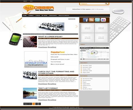 iBlogger WordPress Theme