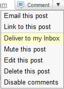 Google Buzz - Deliver to my Inbox copy