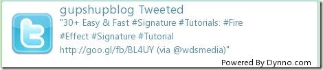 Dynno Twitter Signature Image Generator