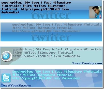 Tweetyoursig Generator 4 Styles