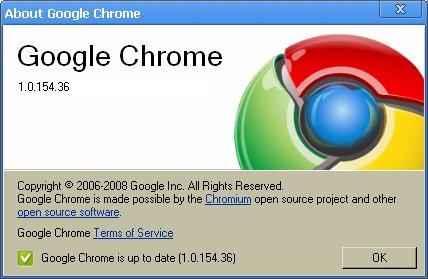 Google Chrome 1.0.156
