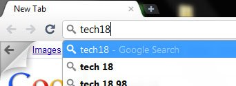 google chrome instant search switch arrow