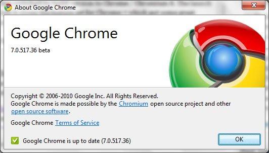 google chrome 7.0.517.36 beta
