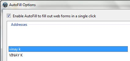 rockmelt browser form auto fill imported