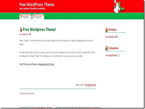13_Free_Christmas_WordPress_Theme