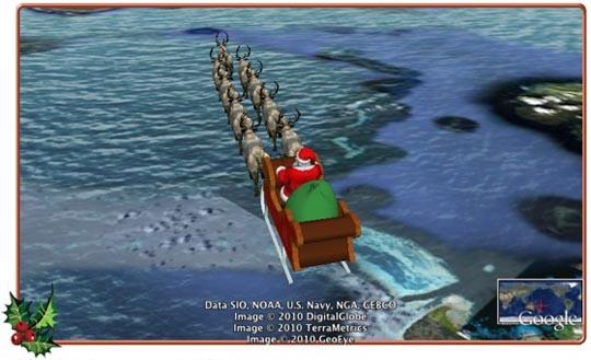 norad track santa on google earth