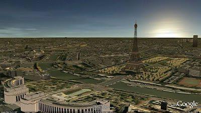 Google 3D Paris image