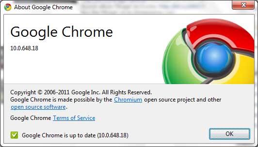 google chrome update notification