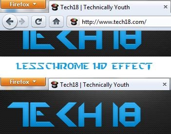 lesschrome HD firefox add-on