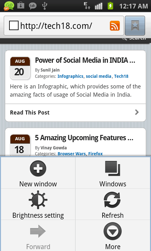 android webkit browser
