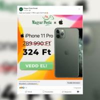 324 Ft-ért iPhone 11 Pro a Magyar Postától?! Újabb átverés terjed a Facebookon