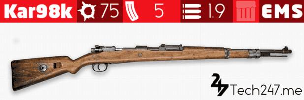 سلاح Kar98k في لعبة ببجي - لعبة PUBG