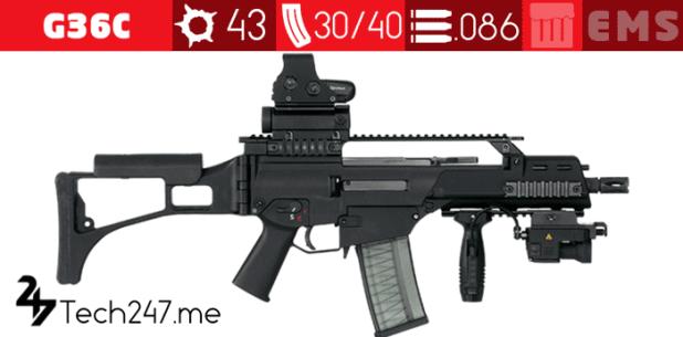 سلاح G36C في لعبة ببجي - لعبة PUBG
