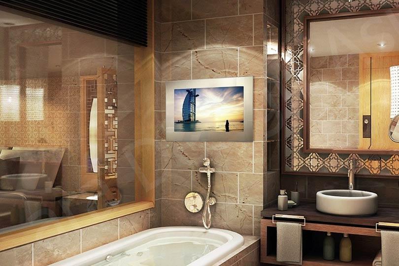 Tech2o Luxury Outdoor Bathroom  Mirror TVs  For homes of distinction