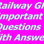 Railway Important Questions With Answers PDF File - RRB ALP, Group -D - In hindi