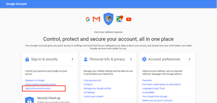 disable third party apps from accessing your gmail