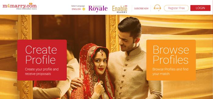 best matrimonial sites in india