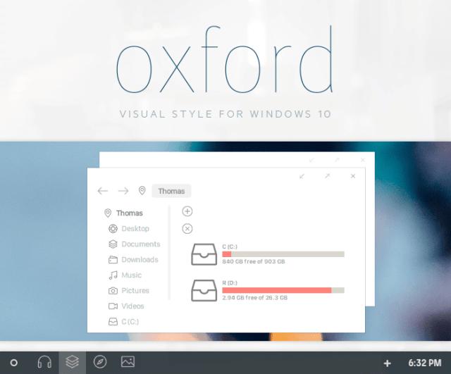 oxford windows 10 theme