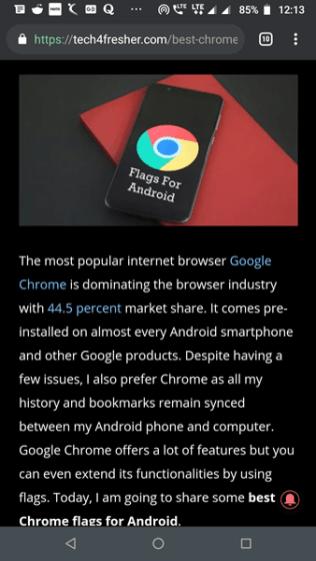 Google Chrome Dark Mode 1