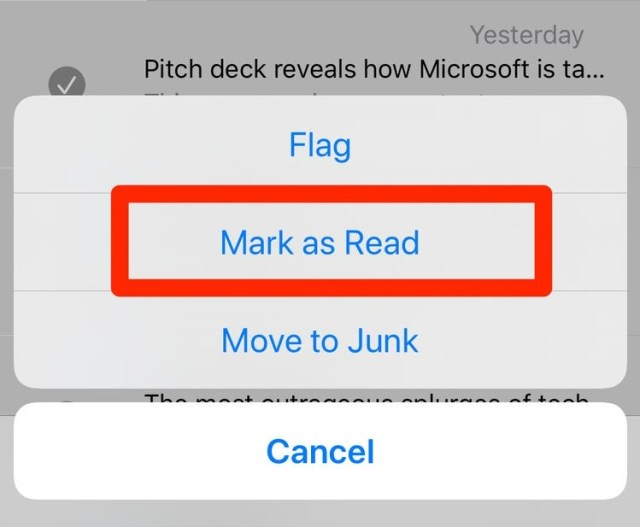 mark all as read