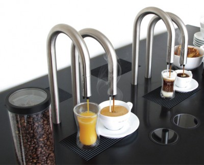 coffee faucet involves no mess in making your coffee