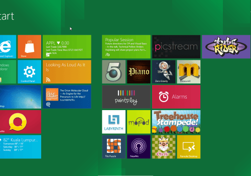 Windows 8 with metro UI holds a place in the list of new gadgets in 2012