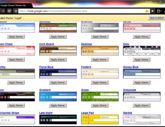 google chrome features allow to customize browser with your tastes