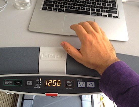 treadmill desk helps you to stay fit even when you are at work!
