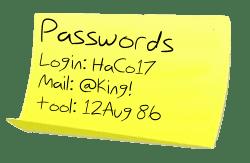 password-postit