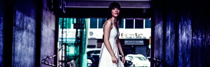 Confused Female Model Woman Street Dress Walking Looking Back crop