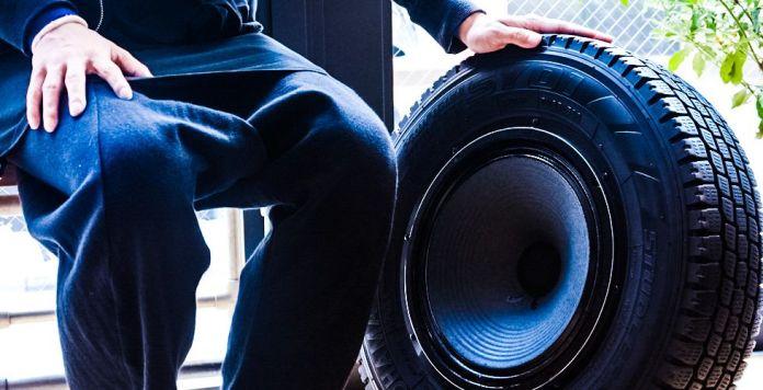 Yokohama Seal Tire Speaker Bluetooth Design Mono Unique Music Gadget Trend Japan Size Example Crop