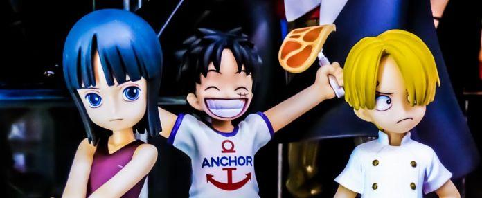 Nico Robin Monkey D Luffy Sanji Children Kids Figurines Anchor T Shirt Steak Meat Meshi Mugiwara One Piece