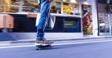 Cocoa Motors Walkcar Laptop sized car motorized skateboard speed fast cool design