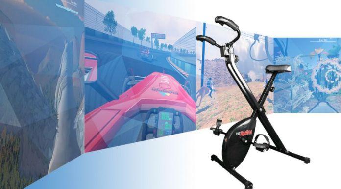 VirZoom VR Bicycle Exercising Fun Virtual Reality Biking Bike Side View