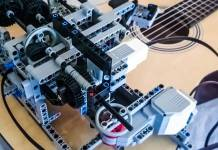 A fairly rough rundown of the working parts of my guitar playing Lego robot