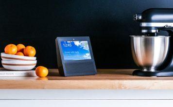 Amazon Echo Show Black Kitchen Counter KitchenAid Aid Speaker Video