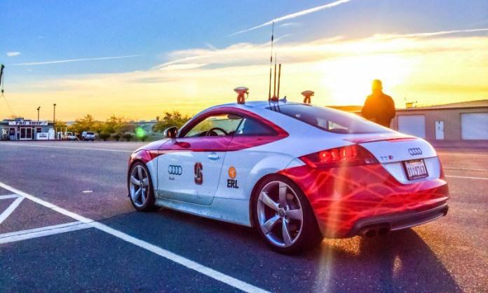 Self Driving Cars Autonomous Vehicles Track Racing Testing Pilot Concept Audi Exterior Outside