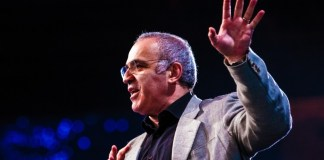 Garry Kasparov TED Talks Video Feature AI IBM Deep Blue Republica Events Speech Watch Clip Machines Robots Future