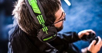 Logitech Acquires Astro Gaming Gear Equipment Pro eSports Voice Headsets Wireless Man Sitting Playing Crop