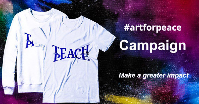 Teach Peace ArtForPeace Campaign Pen Nina Wickman Free Expression Writing Human Rights Project Shorts Buying Donating Supporting Edit