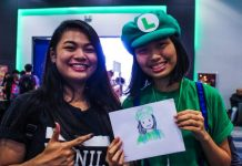 Geek Day 2017 Manila Philippines Green Giant FM Event Cosplay Drawing Two Girls Smiling