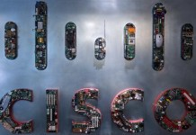 Cisco Logo Electronics Creative Large Wall Surface Old Computer Equipment