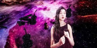 K-Pop VR Experience Singing Dancing HTC Vive Oculus Rift Reality Reflection Female Artist Girl Woman Space Background