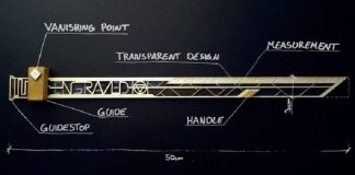 vpr vanishing point ruler engraved kickstarter graz austria Lukas Kienreich concept design prototype