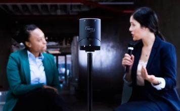 Livestream Video Mevo Cam Small Handy Portable 4K Camera Crop