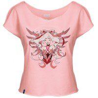 Mercy Guardian Angel Blizzard Overwatch Breast Cancer Skin Research Raising Money Funding BCRF Shirt