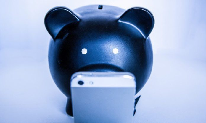 Piggy Bank Smartphone Looking Pig Money Saving Spending Business Pros and Cons BYOD Deployment Article