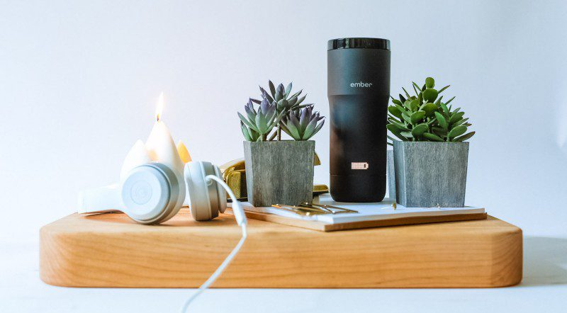 ember travel mug temperature control cup charger cool design hot coffee tea beverages new startup california starbucks amazon refund review price