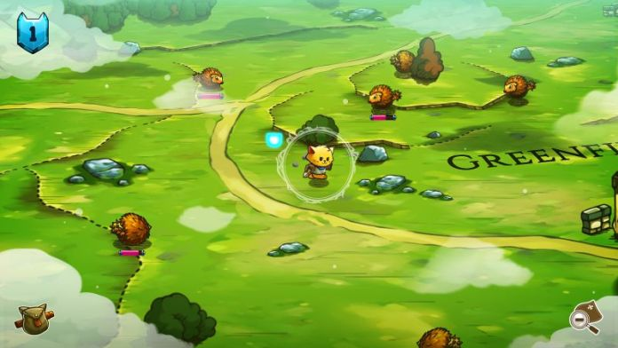 Cat Quest Screenshot Outside Green Monsters RPG Review Cats Fantasy