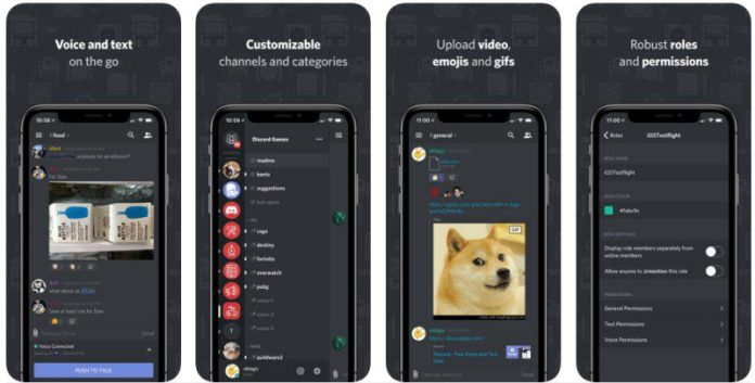 Discord App Screenshots